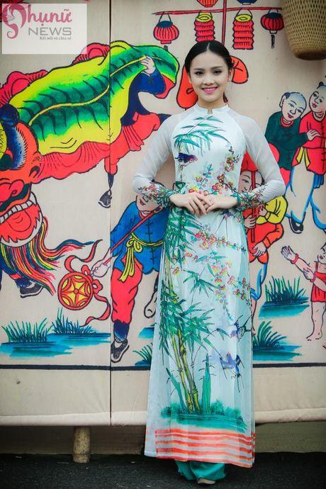 Ngoc Han thuot tha trong chiec ao dai tu thiet ke tai Festival Ao dai - Anh 5