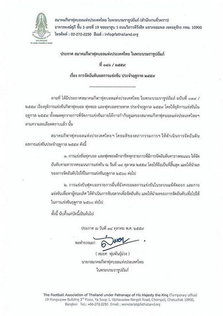 Vua Bhumibol bang ha, bong da Thai Lan ngung moi hoat dong nam 2016 - Anh 3