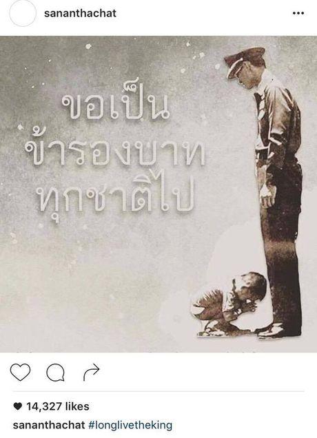 Sao Thai Lan dau buon, bay to thuong tiec truoc su ra di cua Quoc Vuong Bhumibol - Anh 6