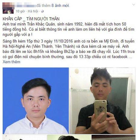 Nam sinh vua tot nghiep DH Bach Khoa Ha Noi mat tich bi an tren duong ve que - Anh 1