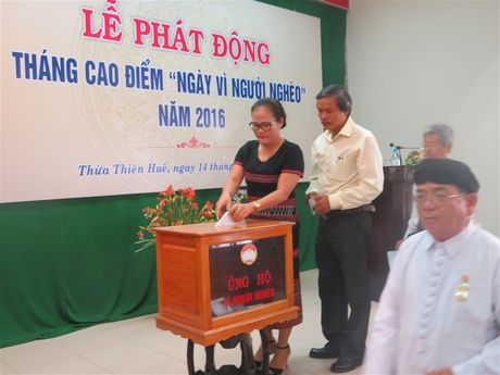 Thua Thien Hue: Tren 670 trieu ung ho 'Ngay vi nguoi ngheo' - Anh 4