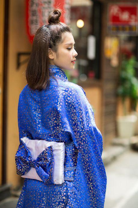 Hoang Yen Chibi diu dang trong trang phuc kimono - Anh 2