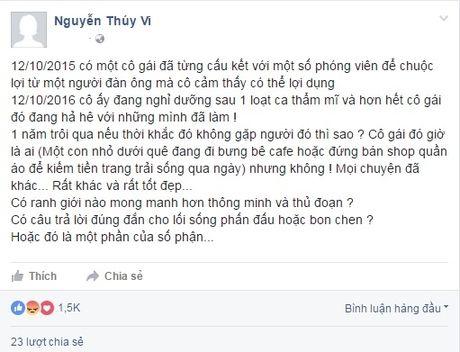 Cong dong mang xon xao vi Thuy Vi 'mat tich' tren Facebook - Anh 7