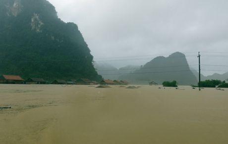Quang Binh: Lu lich su, hang ngan ngoi nha chim trong bien nuoc - Anh 1