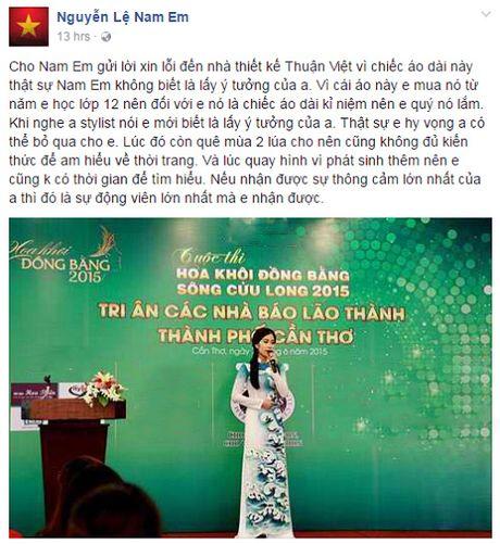 Fan khich le Nam Em vung tam du bi to mac ao dai nhai - Anh 3