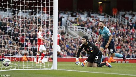 Arsenal 3-2 Swansea: Walcott va Ozil lam, Xhaka pha - Anh 6
