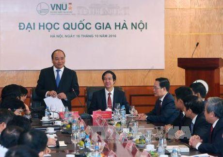 Thu tuong lam viec voi ban lanh dao Dai hoc Quoc gia Ha Noi - Anh 2