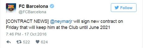 Nong: Neymar se ky hop dong moi voi Barcelona vao thu Sau - Anh 1