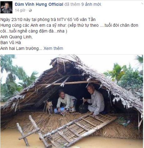 Sao Viet keu goi fan chung tay ung ho mien Trung - Anh 1