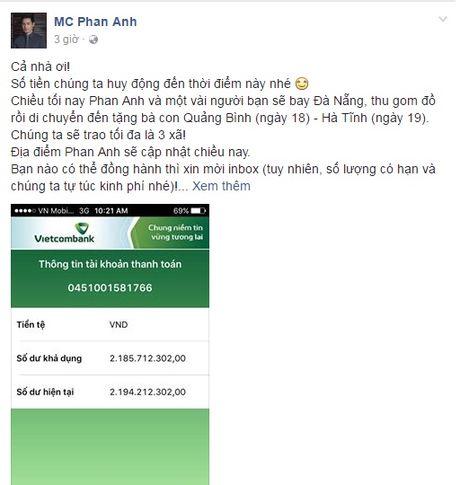 Sao Viet keu goi fan chung tay ung ho mien Trung - Anh 2