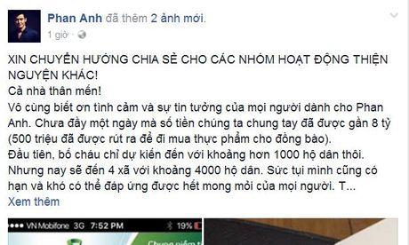 Phan Anh quyen gop hon 7,2 ty dong ung ho dong bao bao lut - Anh 1