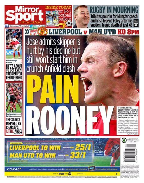 Mourinho de Rooney ngoi du bi tran gap Liverpool, phan phao Giggs - Anh 2