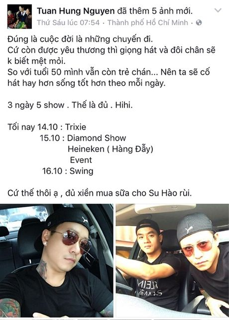 Tuan Hung miet mai chay show de kiem tien mua sua cho con - Anh 2