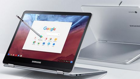 Samsung Chromebook Pro moi: chip 6 nhan, but cam ung - Anh 1
