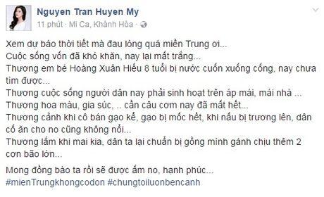 Cac sao Viet chung tay giup do dong bao mien Trung - Anh 5