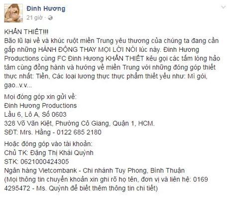 Cac sao Viet chung tay giup do dong bao mien Trung - Anh 6
