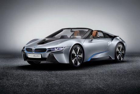 Sieu xe 'xanh' BMW i8 se co ban mui tran Roadster - Anh 1