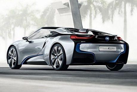 Sieu xe 'xanh' BMW i8 se co ban mui tran Roadster - Anh 3