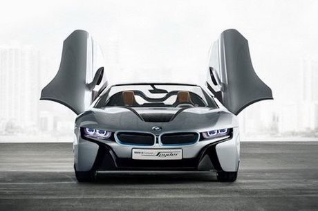 Sieu xe 'xanh' BMW i8 se co ban mui tran Roadster - Anh 7
