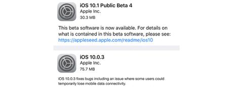 Apple phat hanh 'iOS 10.0.3' cho iPhone 7/7 Plus va 'iOS 10.1 beta 4' - Anh 1