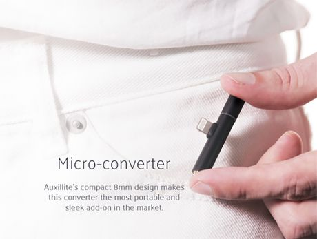 Auxillite: Adapter nho gon tich hop Lightning va cong 3.5mm cho iPhone, gia chi tu $13 - Anh 1