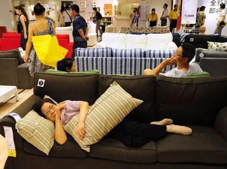 'Hon nhien' nhu khach Trung Quoc: Keo nhau vao cua hang noi that de ngu trua, 'vac' ca giay len dem - Anh 2
