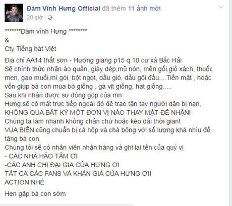 Cac nhom hoi nghe si chung tay huong ve mien Trung - Anh 5