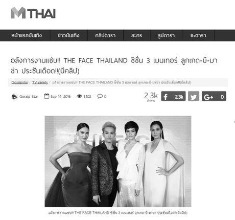 The Face Thailand 3 hoan phat song? - Toan bo cac trang tin chuyen mau den trang - Anh 3