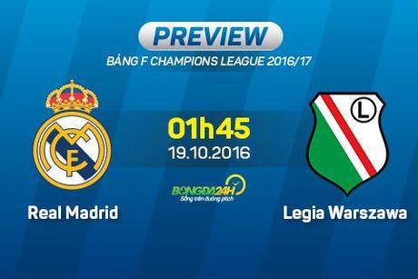 Real vs Legia Warszawa (1h45 19/10): Nang han gap mua rao - Anh 1