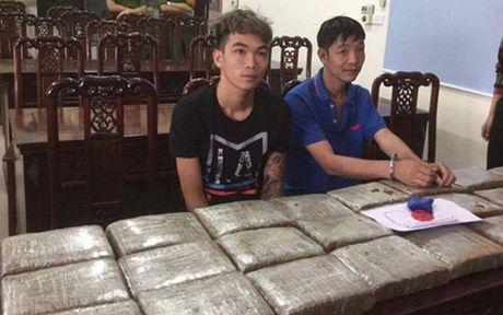Nghe An: Bat 2 doi tuong van chuyen 40 banh can sa - Anh 1