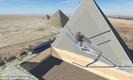 Bat ngo hai khoang bi an trong Dai kim tu thap Giza - Anh 2