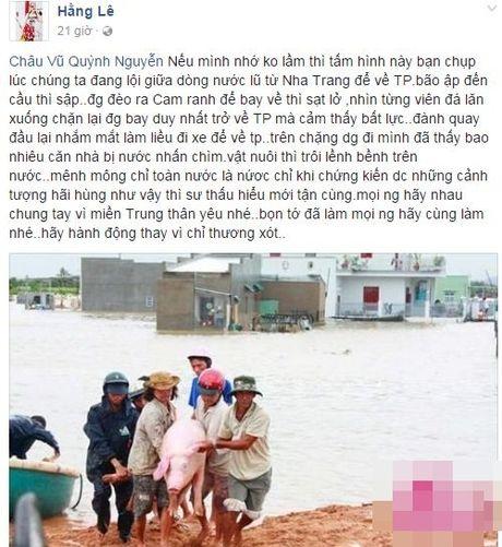 Nguong mo khi sao Viet hanh dong thuc te ung ho, giup do dong bao mien Trung - Anh 9