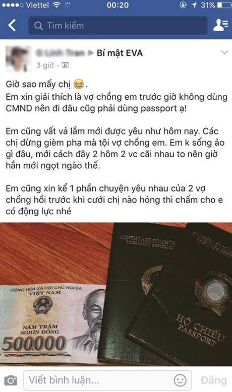 """20/10: Chi em dua nhau """"song ao"""": Lo dien ong chong co toi chuc ba vo? - Anh 15"""
