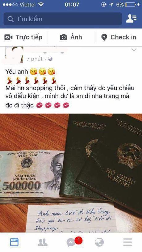 """20/10: Chi em dua nhau """"song ao"""": Lo dien ong chong co toi chuc ba vo? - Anh 2"""
