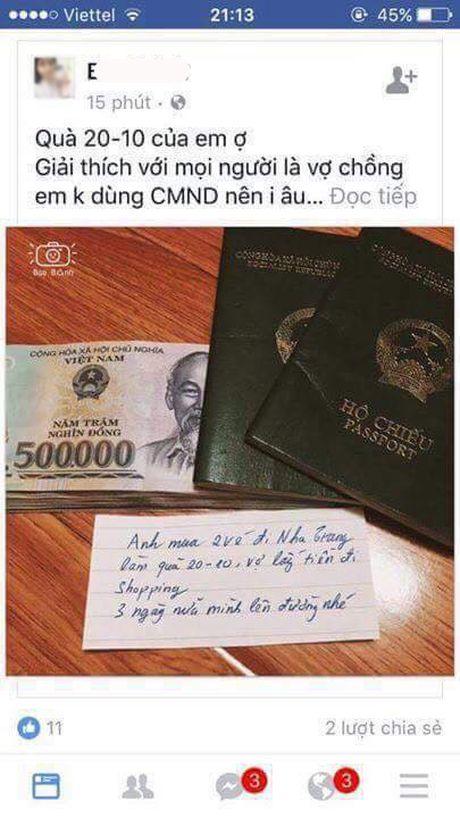 """20/10: Chi em dua nhau """"song ao"""": Lo dien ong chong co toi chuc ba vo? - Anh 9"""