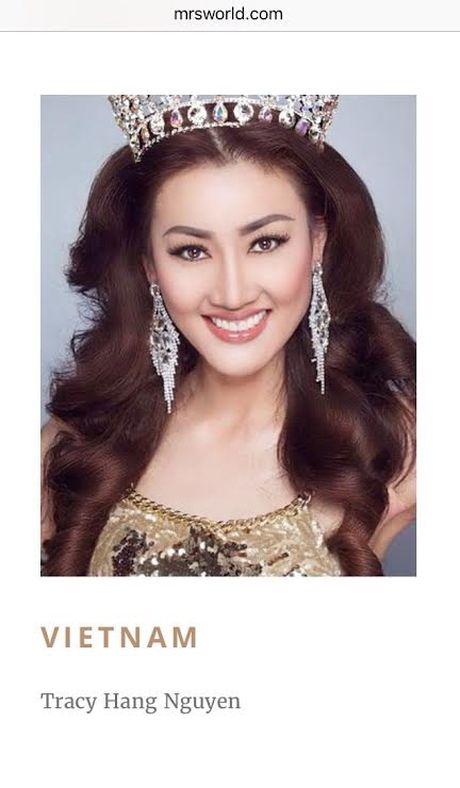 Tracy Hang Nguyen dai dien Viet Nam du thi Mrs World 2016 - Anh 1