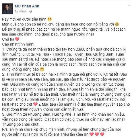 Hon 16 ty dong tiep tuc 'do' ve tai khoan cua Phan Anh ung ho nguoi dan mien Trung - Anh 1