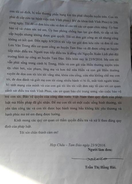 Tam Dao - Vinh Phuc: Tranh chap dat, bo nhan tam danh con gai nhap vien - Anh 4