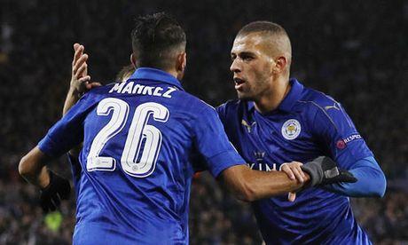 Leicester thang tran thu ba lien tiep o Champions League - Anh 1