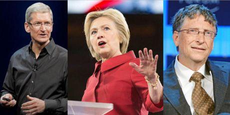 Neu Hillary Clinton trung cu, Bill Gates hoac Tim Cook co the lam Pho Tong thong - Anh 1