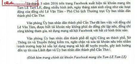Can Tho: De nghi xu ly Facebook gia mao lanh dao thanh pho - Anh 2