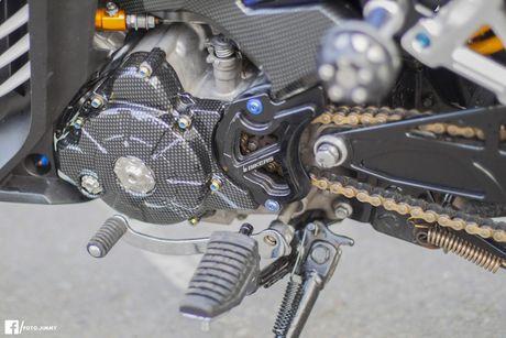 Yamaha Exciter 135 'full kieng' cua biker Quang Ngai - Anh 9