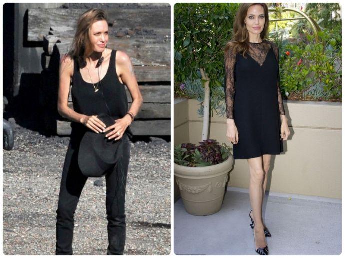 Brad Pitt đe dọa Angelina Jolie vì gầy gò