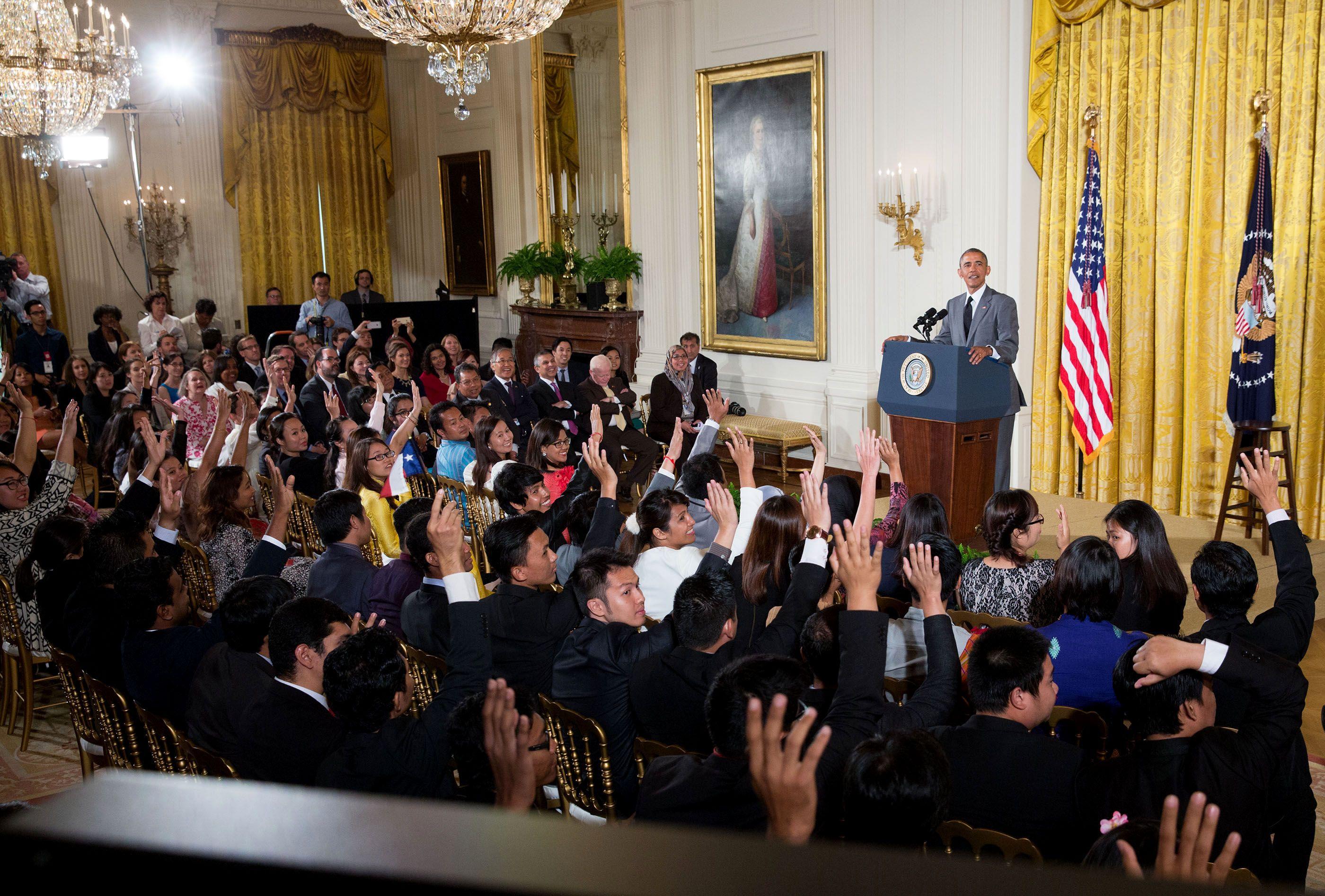 Tổng thống Obama đặt rất nhiều kỳ vọng vào những người trẻ